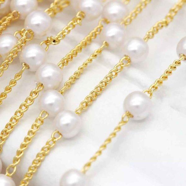 Cadena con perlas