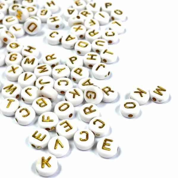 Letras blancas - 100 uds.