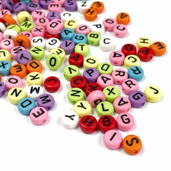 Letras de colores - 100 uds.